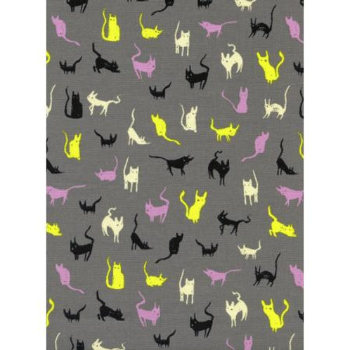 C+S moon cat, gray fabric