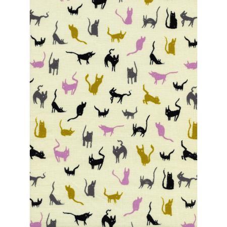 C+S moon cat, fabric