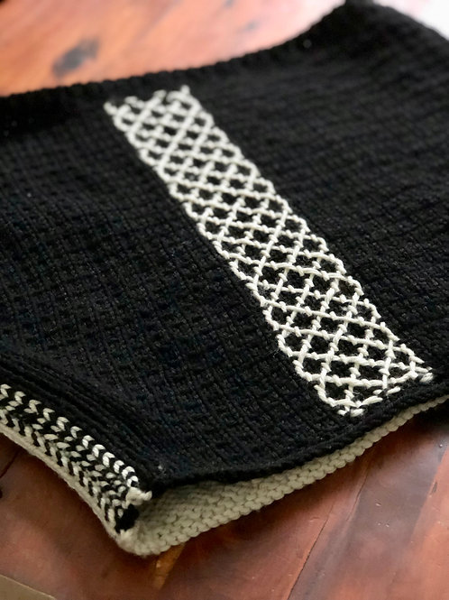 Reversible Embroidery on Stockinette
