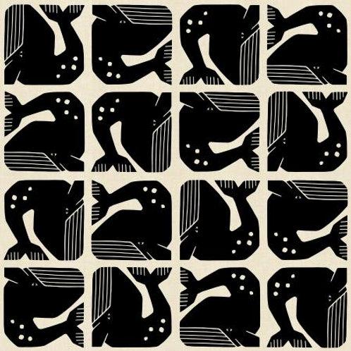 C+S Grumpy Whale fabric