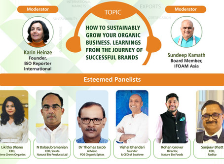 How to sustainably grow your organic business. Learnings from the journey of industry leaders