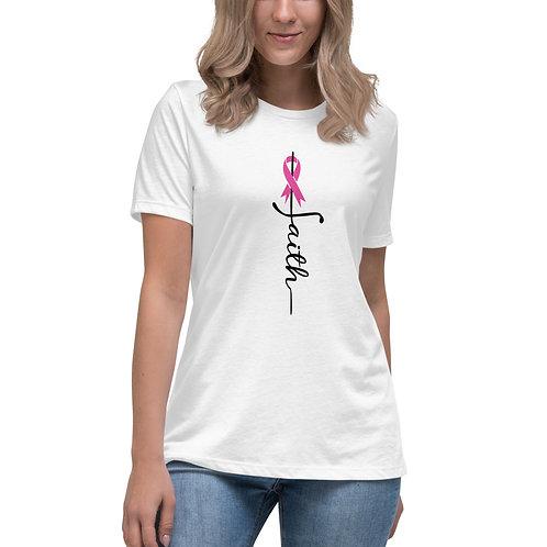 Faith Breast Cancer Women's Relaxed T-Shirt