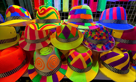 Colourfull and bright hats for crazy nig