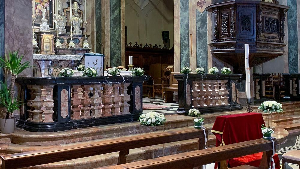Allestimento Floreale Matrimonio Chiesa Como - Lenno