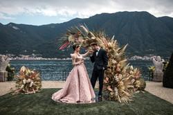 Villa-Balbiano-Lake-Como-Haute-Couture-Pink-Sara-Mrad-Wedding-Dress-Lilly-Red-86