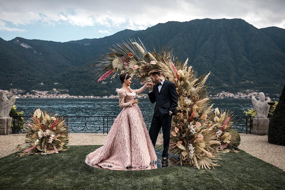 Villa-Balbiano-Lake-Como-Haute-Couture-Pink-Sara-Mrad-Wedding-Dress-Lilly-Red-86.jpg