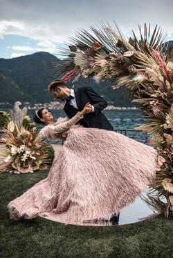 Villa-Balbiano-Lake-Como-Haute-Couture-Pink-Sara-Mrad-Wedding-Dress-Lilly-Red-88