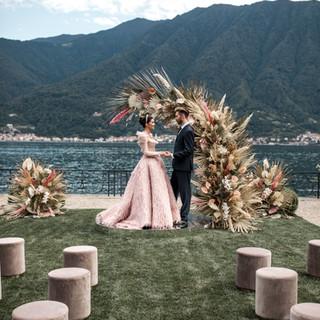 Villa-Balbiano-Lake-Como-Haute-Couture-Pink-Wedding-Dress-Lilly-Red-sneak-peek-p2--18 2.JP