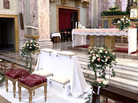 Allestimento Floreale Matrimonio in Bergamo, Città Alta - Chiesa di Santa Grata inter Vites