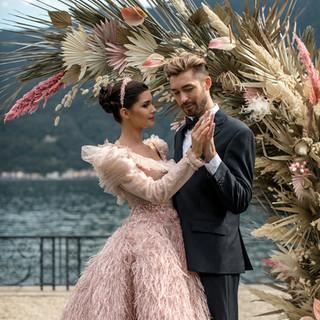 Villa-Balbiano-Lake-Como-Haute-Couture-Pink-Sara-Mrad-Wedding-Dress-Lilly-Red-91.jpg