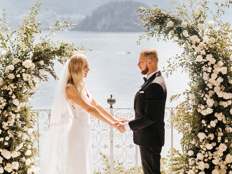 Allestimento Floreale Matrimonio Lago di Como - Villa Cipressi - Sebastian & Edyta
