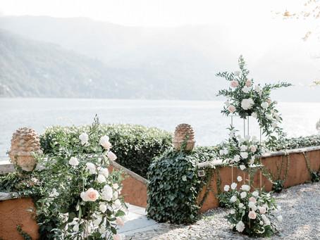 Allestimento Floreale Matrimonio Como - Villa Regina Teodolinda