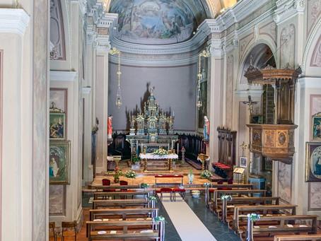 Allestimento Floreale Chiesa - Matrimonio Lecco - Lago di Como