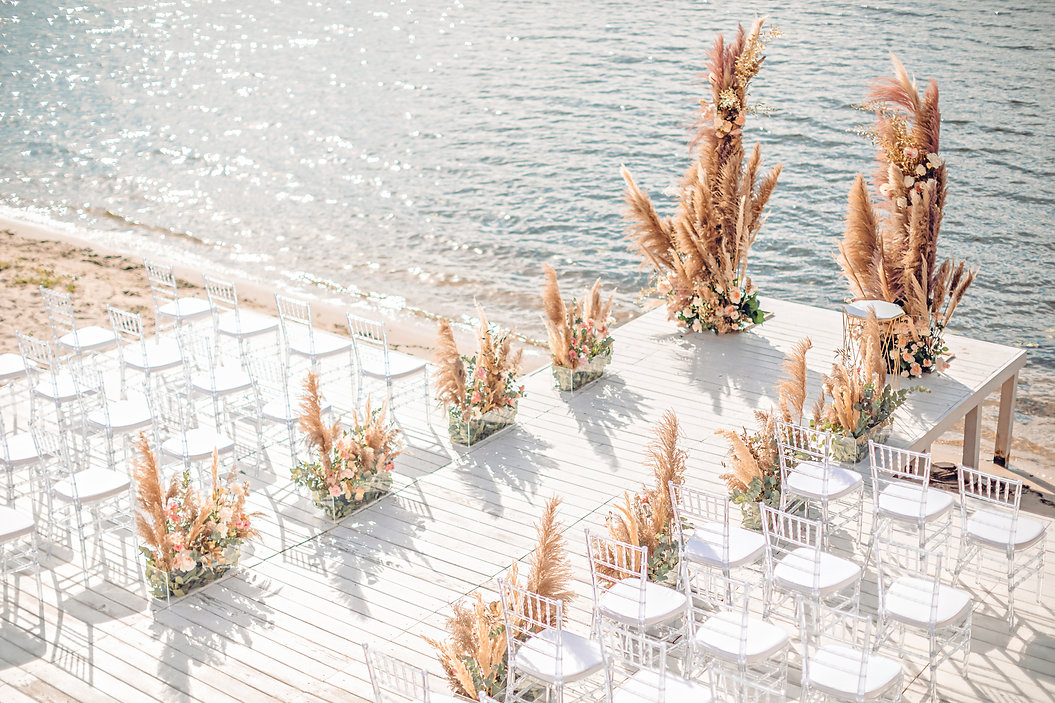 Copy of Wedding by the river. Beach wedd