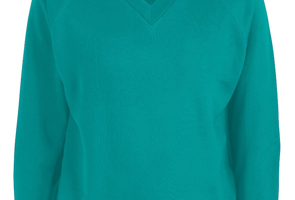 Jade V-Neck Sweatshirt