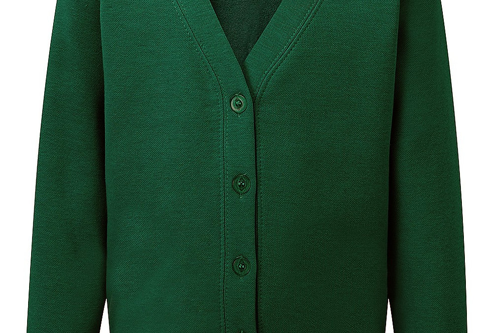 Bottle Green Sweat Cardigan (St Alban's)