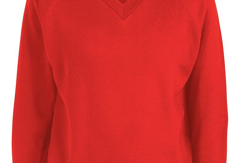 Red V-Neck Sweatshirt (Bidston Avenue)
