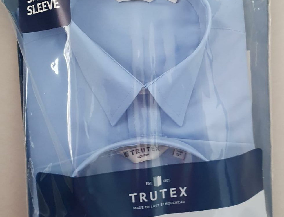 Trutex Non-Iron Short Sleeve Shirts Twin Pack - Boys