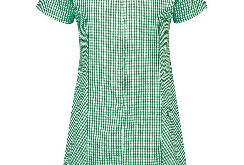 Green & White Gingham Summer Dress