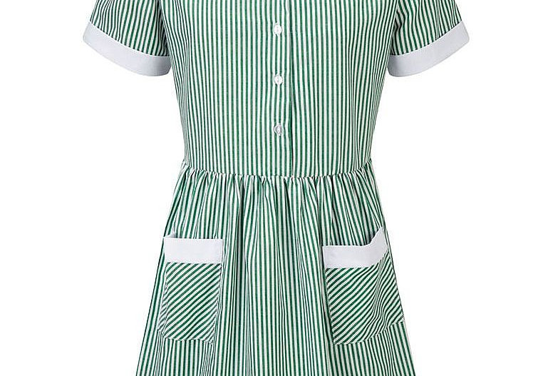Green & White Striped Kinsale Summer Dress