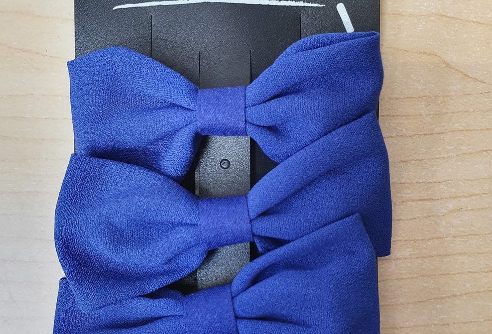 3 pack of bows - Blue