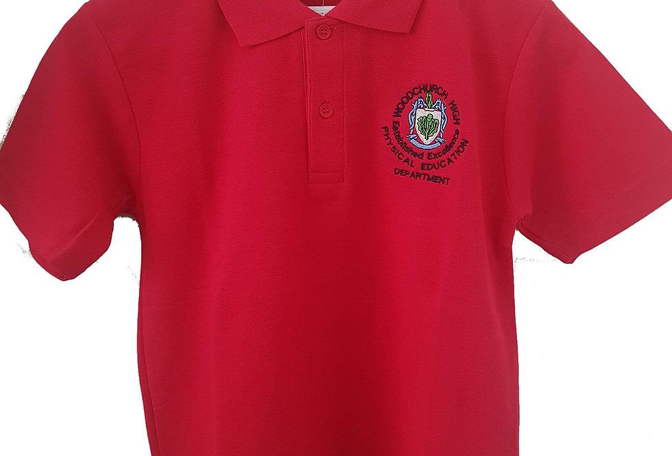 Woodchurch High - Red PE Poloshirt- Girls only