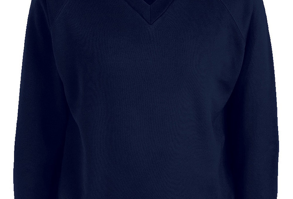 Navy V-Neck Sweatshirt (Holy Spirit)