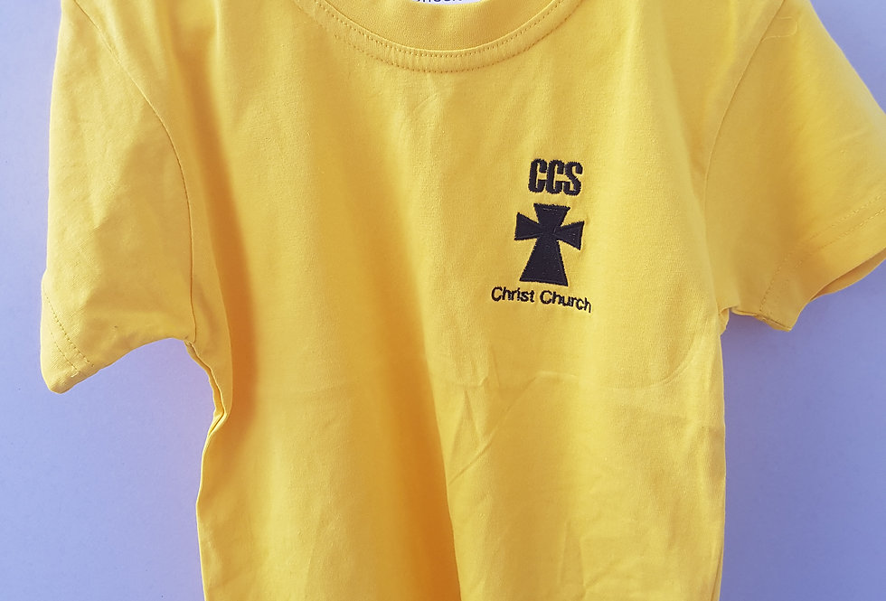Yellow PE T-Shirt (Christ Church Moreton)