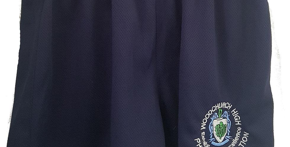 Woodchurch High - Navy PE shorts - Boys & girls
