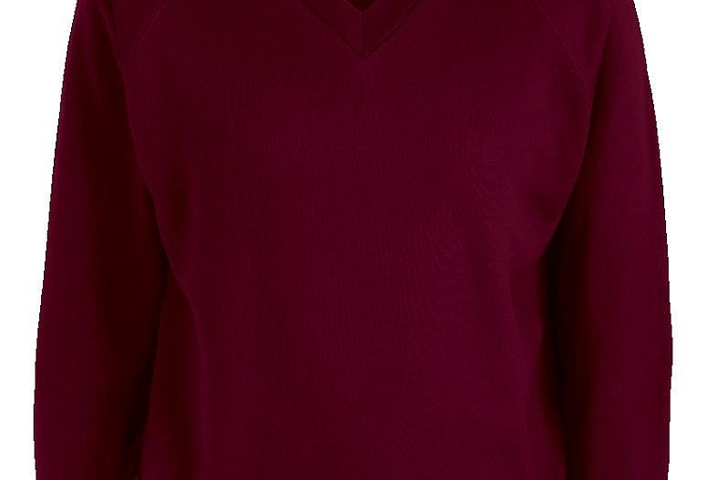 Maroon V-Neck Sweatshirt (Orrets Meadow)