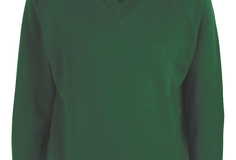 Bottle Green V-Neck Sweatshirt (St Alban's)