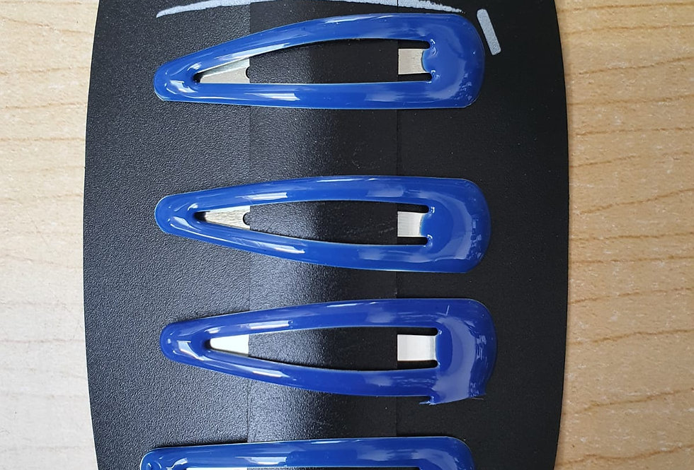 Hair Clips - Blue