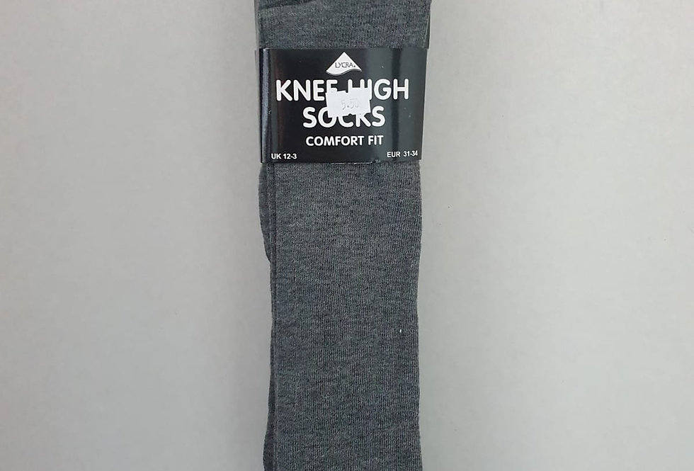 Knee High Plain Socks - choice of 4 colours