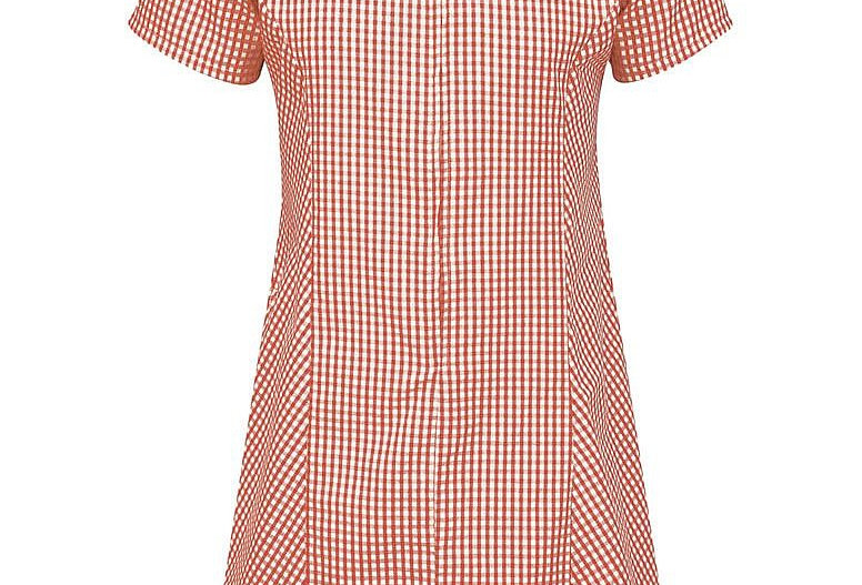 Red & White Gingham Summer Dress