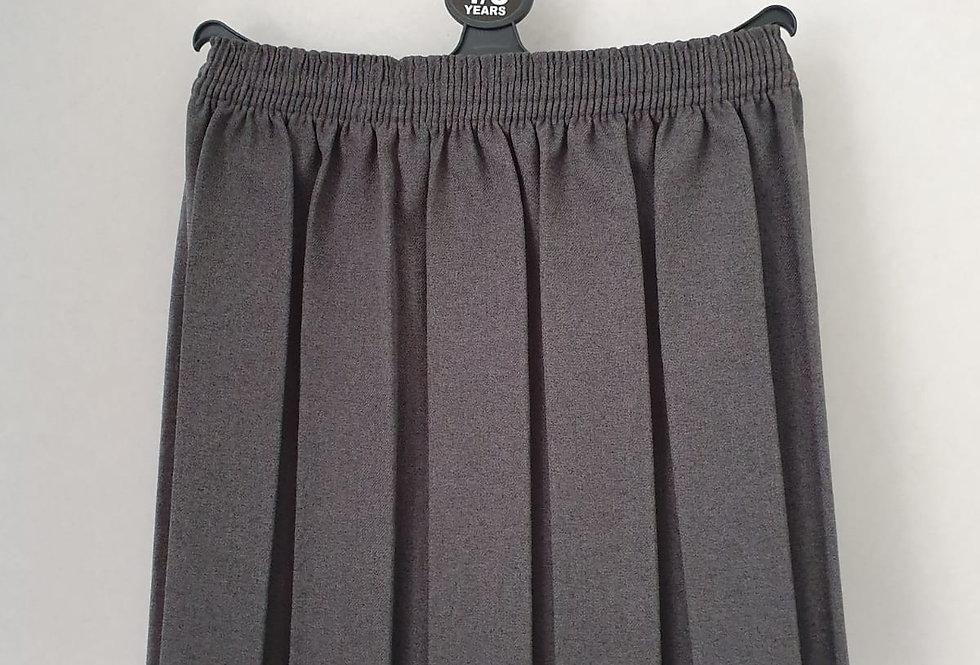 Box Pleat Skirt - Grey