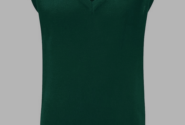 Bottle Green Knitted Tank Top (Holy Trinity)