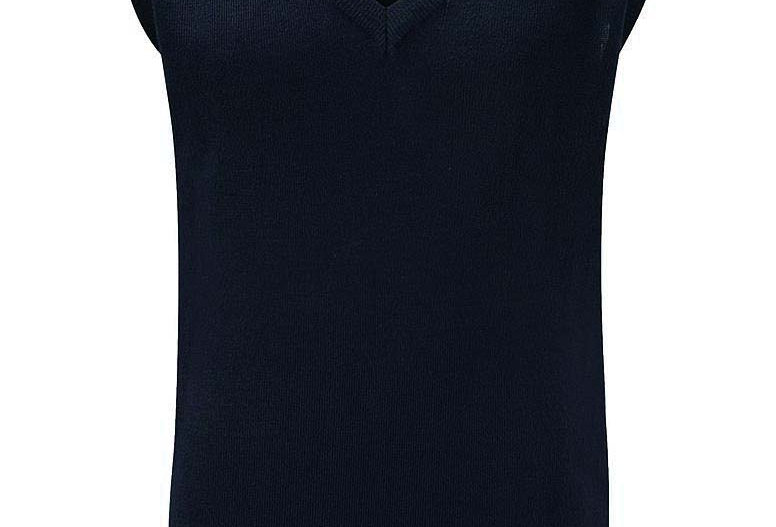 Navy Knitted Tank Top (Greasby Juniors)