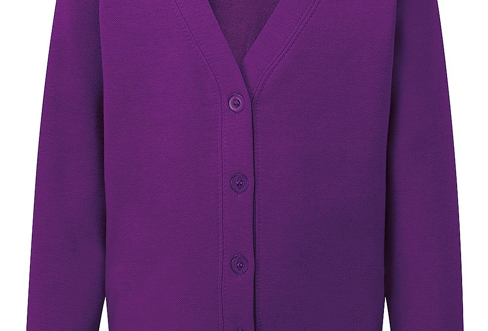 Purple Sweat Cardigan (Poulton Lancelyn)