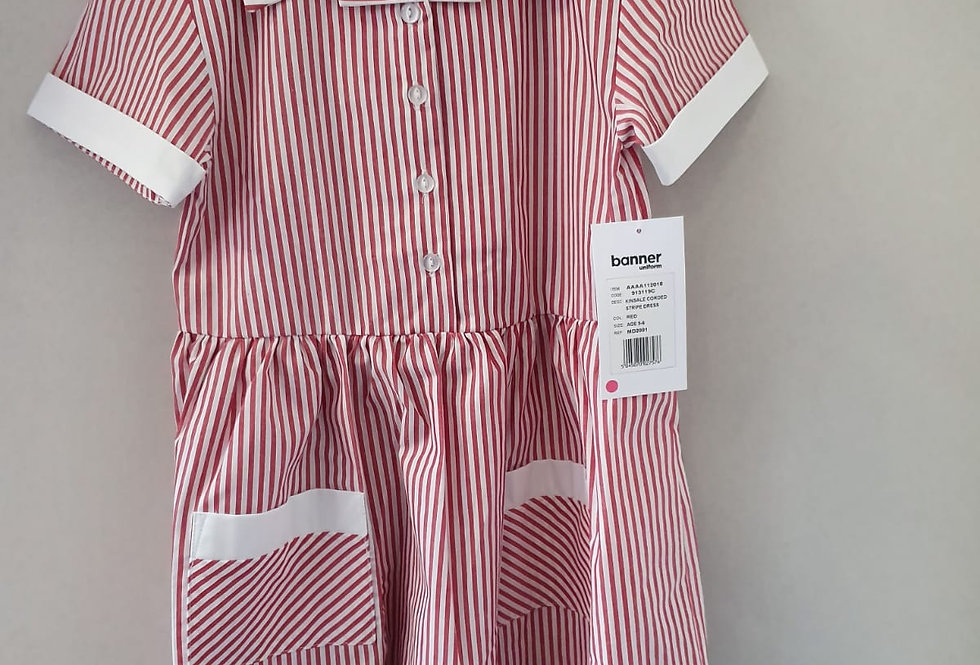 Red & White Striped Kinsale Summer Dress
