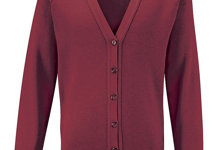 Maroon Knitted Cardigan (Townfield Primary School)