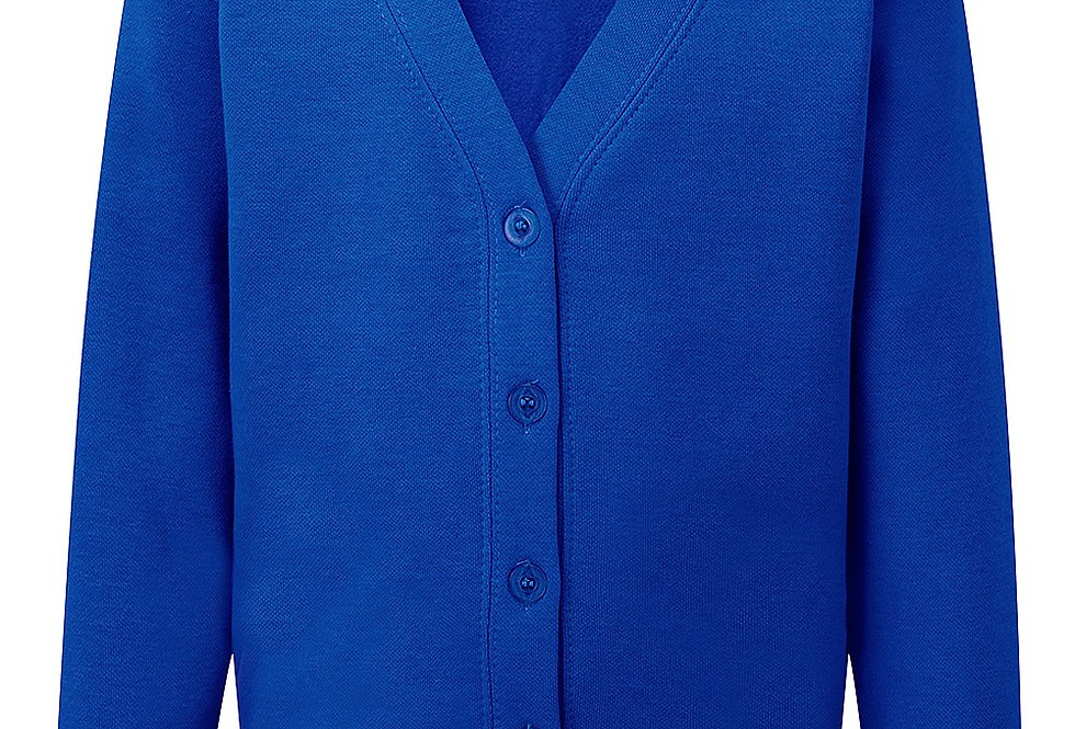 Royal Blue Sweat Cardigan (Moreton Baptist)