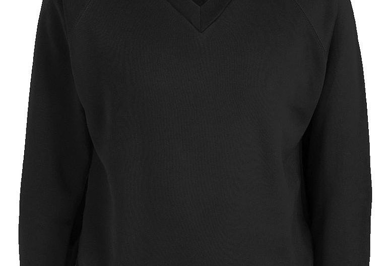 Black V-Neck Sweatshirt