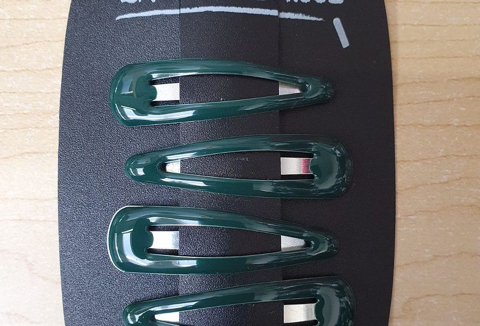Hair Clips - Bottle green