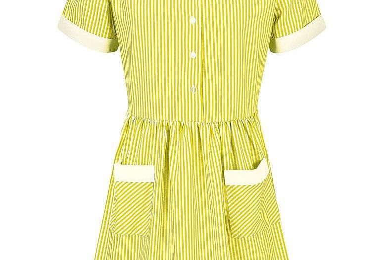 Yellow & White Striped Kinsale Summer Dress