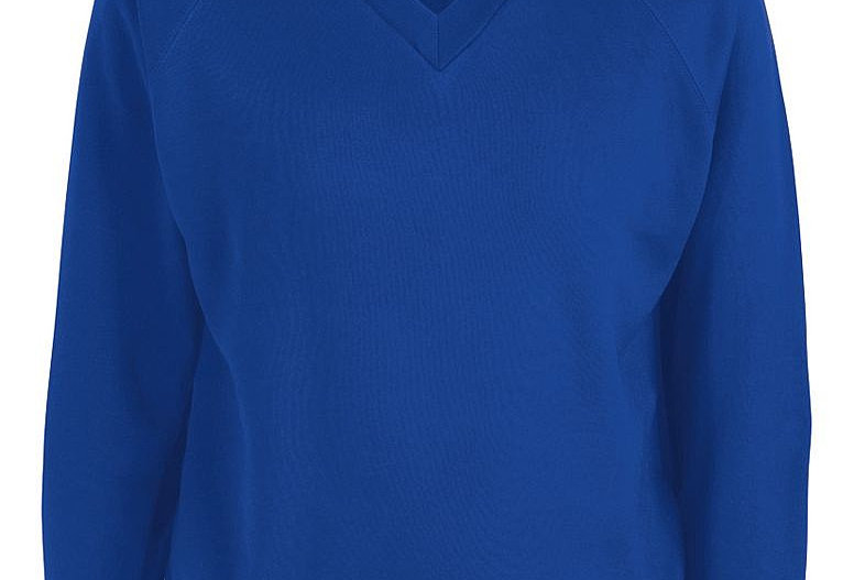 Royal V-Neck Sweatshirt (Priory Parish)