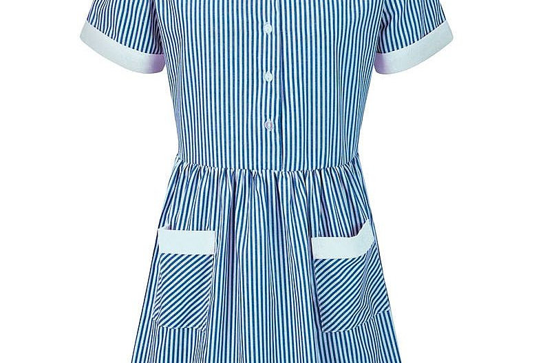 Blue & White Striped Kinsale Summer Dress