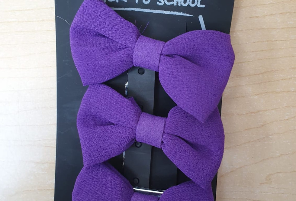 3 Pack of bows - Purple