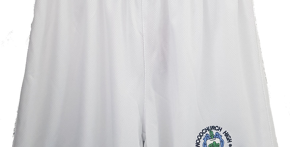 Woodchurch High - White PE shorts - Boys only