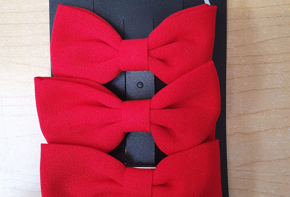 3 Pack of bows - Red