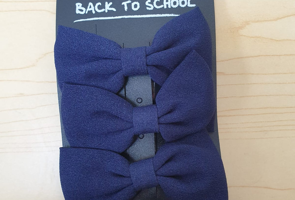 3 pack of bows - Navy